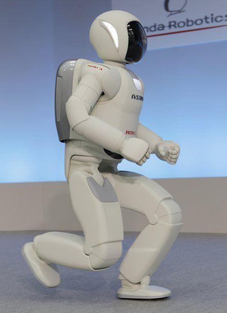 Robot Asimo trình diễn khả năng chạy.